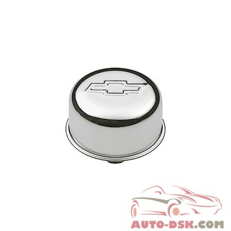 Chevrolet Performance Breather Cap, Raised Bowtie Emblem, Chrome, Push-In Style, 3in Diameter - part #141-616