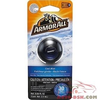 Armor All Air Freshener Scented Membrane Vent Clip - Cool Mist Scent (0.08 fl. oz.) - part #17800