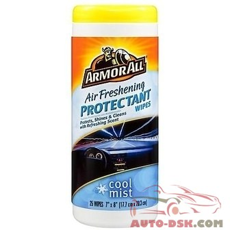 Armor All Air Freshening Protectant Wipes - Cool Mist Scent (25 Count) - part #78509