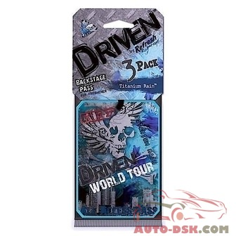 Driven Refresh Your Car Scented Paper Air Freshener, Titanium Rain Scent (3-pack) - part #75103